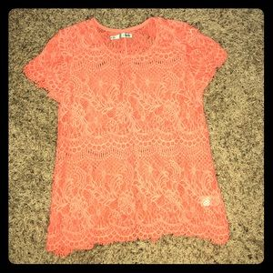 Coral Maurice's lace top size medium